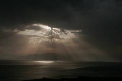 Unwetter überm Toten Meer