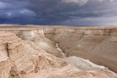 Sedimentschichten der Salzwüste